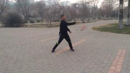 淄博贾强麒麟鞭回头鞭、反回头鞭动作练习