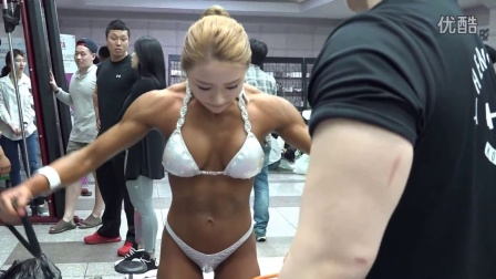 2015 Muscle mania  fbb韩国女子健美