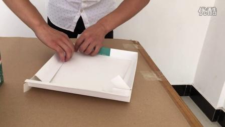 泉斌包装蛋糕盒折叠方法演示