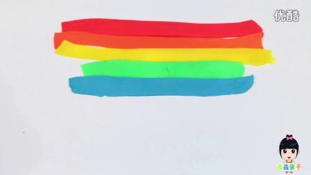 橡皮泥彩虹冰淇淋蛋卷 自制橡皮泥冰淇淋  儿童益智玩具
