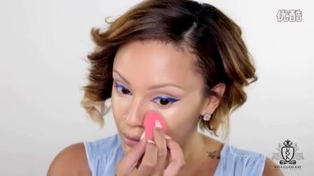 重口夏季清凉蓝色欧美妆容教程使用产品见评|Viva_Glam_Kay