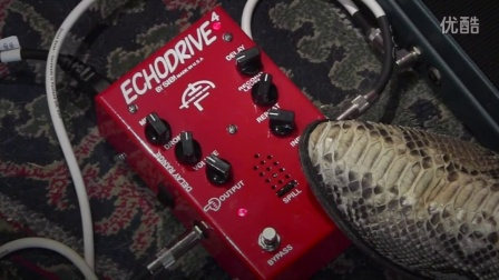 SiB FX ECHODRIVE 4 tube echo demo with Mission Expression Pedal