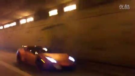 iPE 小牛與兩台F430一同炸隧道!!