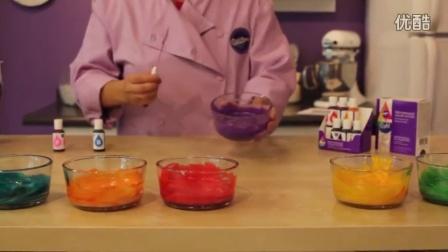 彩虹纸杯蛋糕制作方法 rainbow cupcake教程