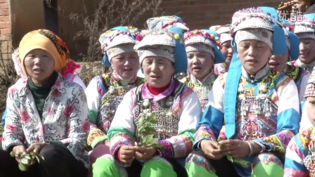 弥勒市巡检司镇高甸村民会长冲小组阿哲(彝族)文化活动0