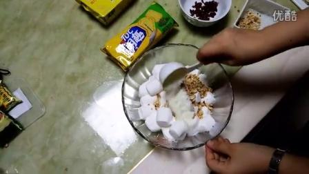傻瓜式烘焙3分钟超简单蔓越莓花生葱香牛轧饼教程