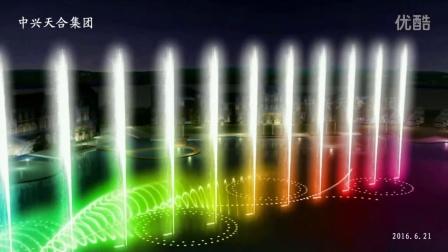 海南万宁市日月湾喷泉动画