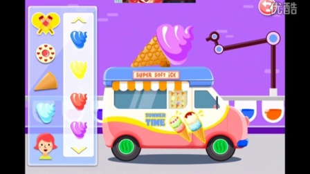 宝宝巴士游戏:雪糕车★冰淇淋 绵绵冰制作 宝宝甜品店 糖果工厂 中华美食 4399小游戏