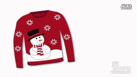 圣诞套头毛衣第一集织法图解视频教程