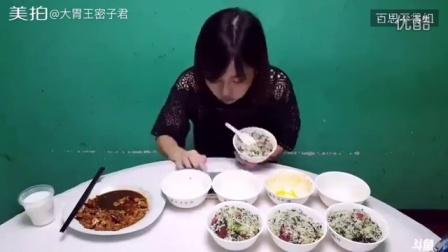 大美女吃货吃在宜兴丁山,8碗特色菜饭全部吃完,明明可以靠颜值,但偏偏要当个吃货…