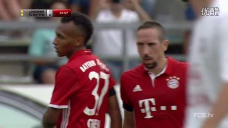 比赛集锦:里贝里阿拉巴破门 拜仁3-0兰茨胡特