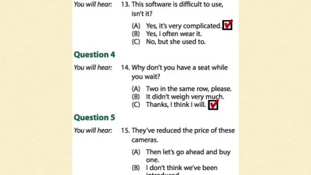 TOEIC Listening Part Two - Question/Response
