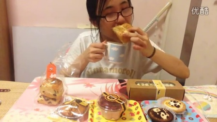 中国吃播KIKI酱早安巴黎柠檬乳酪挞&奶酥葡萄松饼克里斯汀面包集合潘达芝士挞2口味甜品