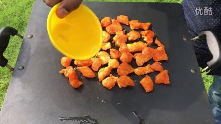 【neallol印度乡村生活】27 印度家庭食物,自制鸡肉沙拉 感觉不错 外国人生活 国外农村