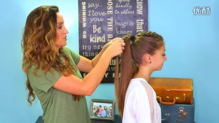 Stacked Bubble Braid  Back to School Hairstyles