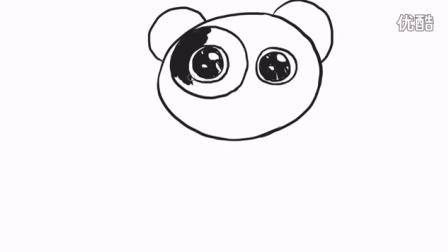 可爱的小熊猫简笔画