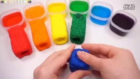 【魔力玩具世界】雪花珍珠泥结合果冻水晶泥美美的