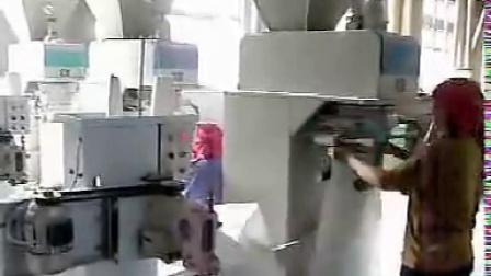 江西蓝光机电 25公斤面粉自动包装机视频 淀粉定量包装秤