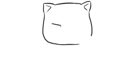 [小林简笔画]教小朋友如何绘画可爱的招财猫卡通儿童幼儿简笔画教程