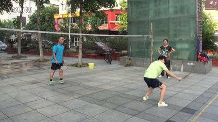 2016.7.29浒山步行街竞技柔力球练习视频01029