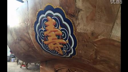 兰州寿材棺材柏木雕刻油画