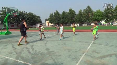 张卜中心小学2016年乡村学校少年宫篮球组活动视频