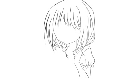 [小林简笔画]绘画动画片《约会大作战》中的时崎狂三卡通动漫简笔画教程