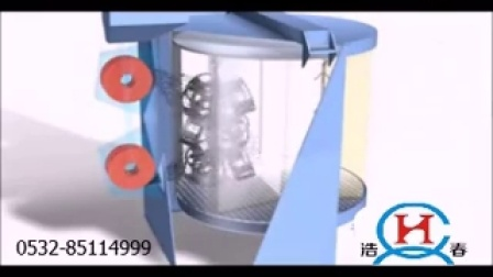转盘悬挂式抛丸机视频