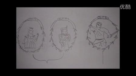 白肉蘑菇出品:自创漫画作品《一个国家的诞生》
