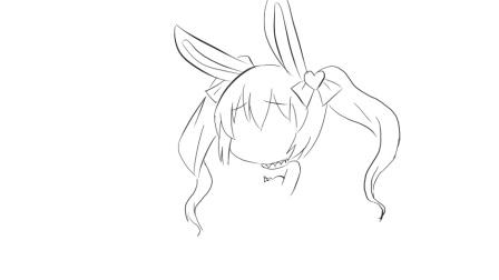 [小林简笔画]绘画可爱萌萌的兔子小女孩子卡通简笔画教程