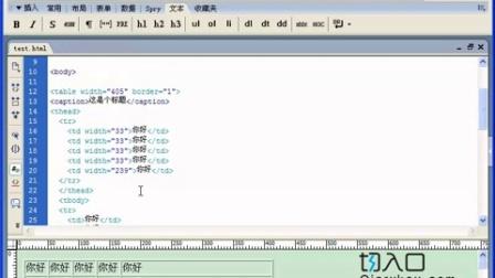 切入口web前端开发实战培训——网页表格