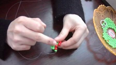 自由串珠手工坊 diy串珠钥匙扣挂件五角星视频
