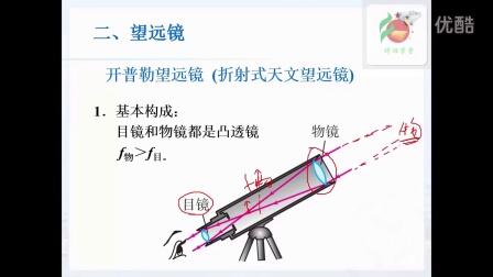 人教版初中物理八年级上册第第五章第五节5.5显微镜与望远镜