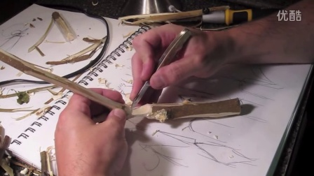 Whittle a Rooster From a Twig (wood carving, how to)