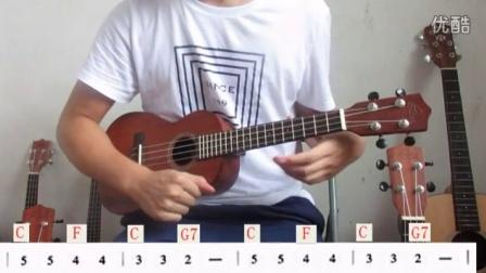 老工匠乐器尤克里里零基础入门教学(第七课)音阶加和弦练习《小星星》《小毛驴》