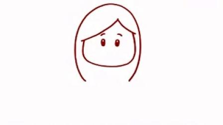 最新儿童简笔画中文教程 - 长发女孩
