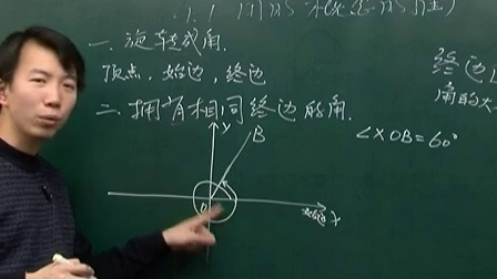 高一数学-课堂实录39-40角的概念的推广一