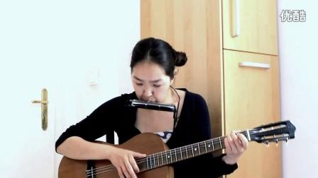 Tolin hul 蒙古美女口琴吉他 反弹