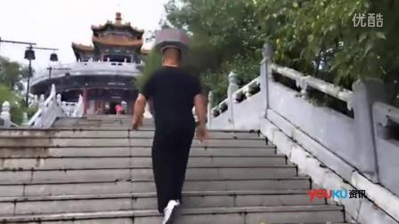 """【拍客】吉林""""一顶哥""""头顶石墩 健身减肥60斤"""