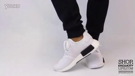 Adidas NMD R1 White Black 上脚欣赏