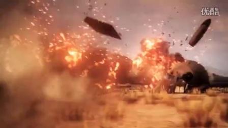影视后期特效飞机中弹快速坠毁爆炸解体虚拟现实视频素材