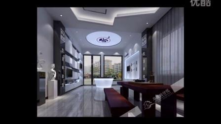 东莞装修公司鲁班装饰案例分享冠榕智能展厅设计300平方现代风格