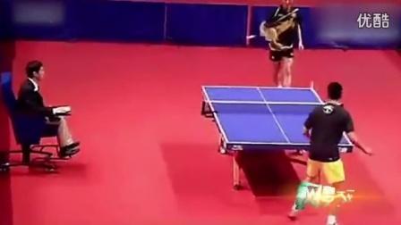 张继科用羽毛球拍和林丹打乒乓球!论无敌的寂寞_高清
