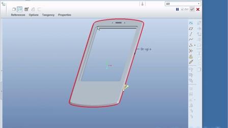 3.7 Proe/Creo骨架建模之手机面板