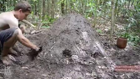 澳洲小哥野外求生技能(第14集):烧制木炭_高清