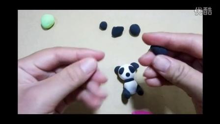 橡皮泥 纸粘土 熊猫