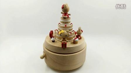 hello kitty 蛋糕 台湾jeancard音乐盒八音盒