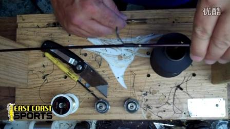 How to fix an eye on a rod如何修理鱼竿导环