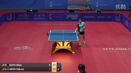 2016保加利亚公开赛 女单 U21半决赛 加藤美优vs樱守 乒乓球比赛视频 完整版