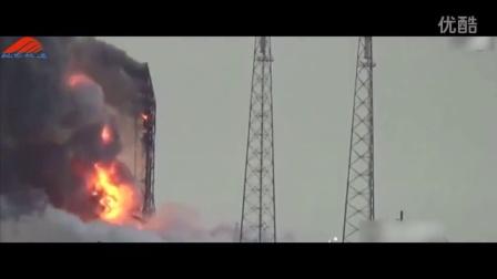 【视界频道】1分钟实拍SpaceX火箭测试时爆炸 空中爆发巨大火球